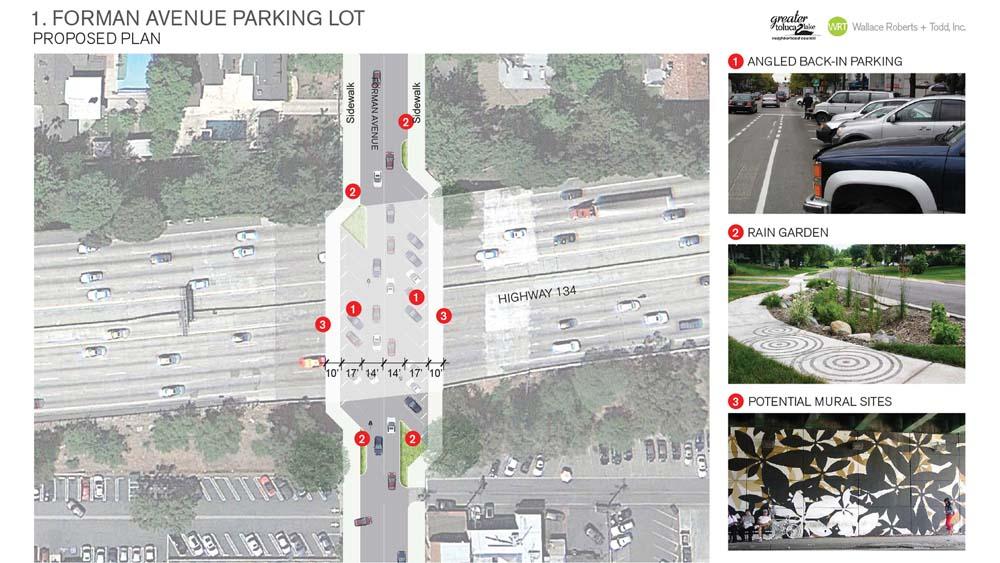 Forman/134 Freeway Underpass Parking