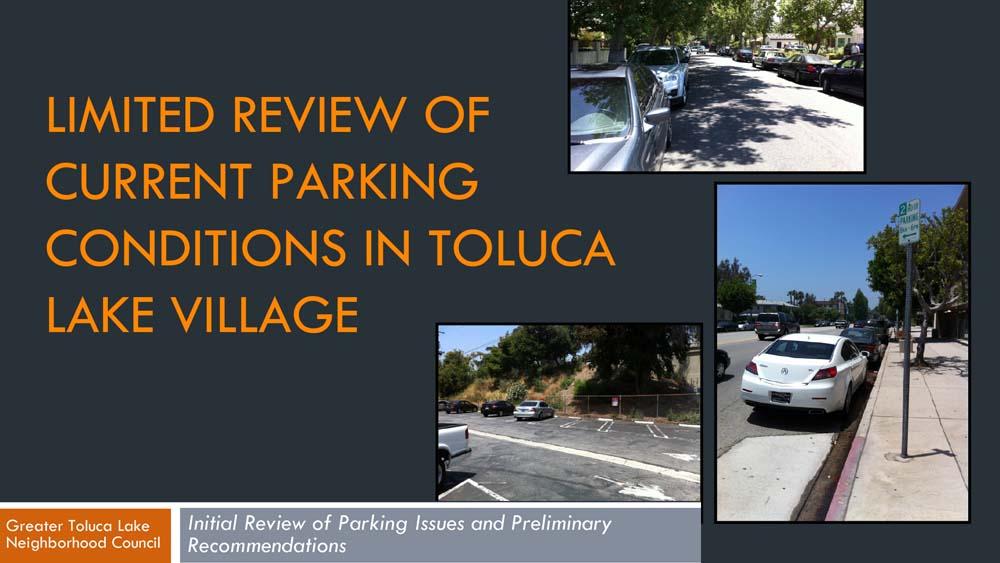 Parking Study / Riverside Drive