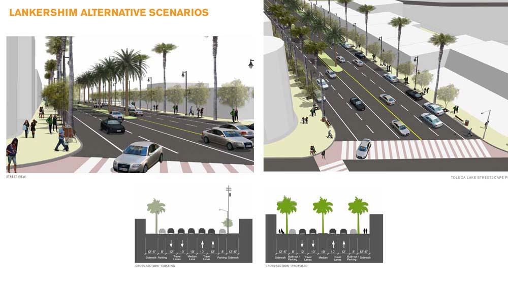 Lankershim Blvd Streetscape Plan / Phases 1-2
